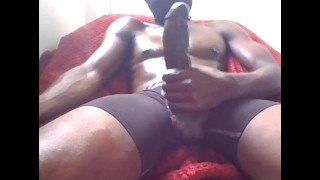 Big thick black dick makes that pussy wet 2 huge cumshots!