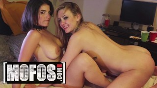 MOFOS - Sexy coeds Adira Allure & LaSirena fuck at house party