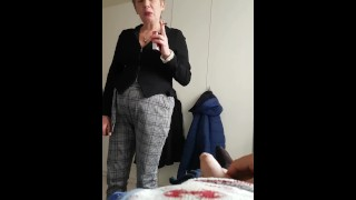 my aunt I jerk in front of her