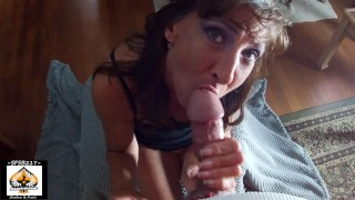 Beautiful Granny Sucks A Beautiful Cock