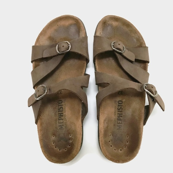 Mephisto Shoes Hannel Brown Nubuck Sandals 37 Poshmark