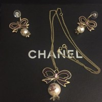 20% off CHANEL Jewelry - Chanel Ribbon and Pearl Necklace ...