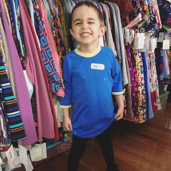 LuLaRoe Shirts  Tops Unisex Sloan Kids Baseball T Ringer Detail