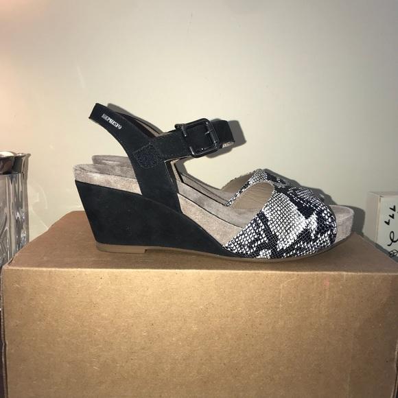 Mephisto Shoes Beauty Black Velcalf Size 40 New Poshmark