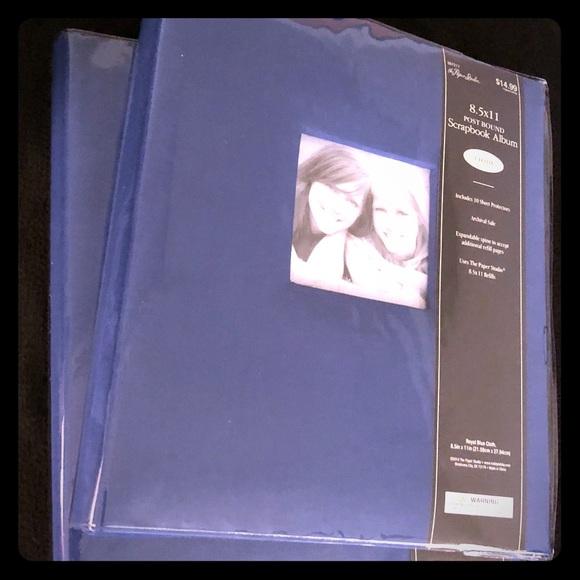 (2)- Scrapbook Album - 85 x 11 Cloth Blue NEW NWT