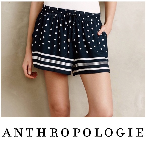 Anthropologie Shorts Elevenses Polka Dots Stripes Short Poshmark