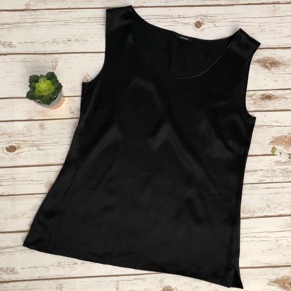 Escada Tops Esacada Black Silk Tank Top Size 38 Medium Poshmark