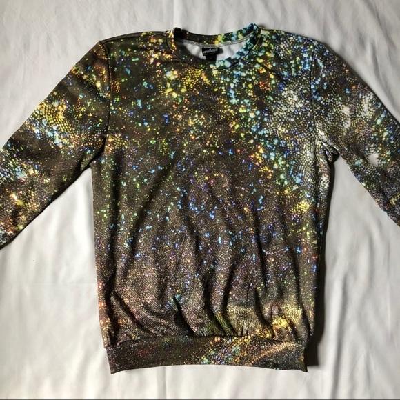 Mr Gugu  Ms Go Shirts Holographic Print Sweatshirt Poshmark