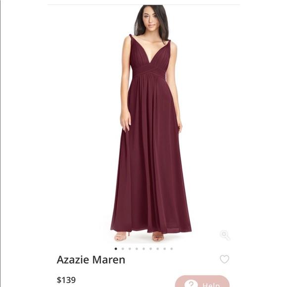 f5c7bcef76c Azazie Dresses Maren Bridesmaid Dress In Cabernet Size A2 Poshmark - New  Azazie Size Chart