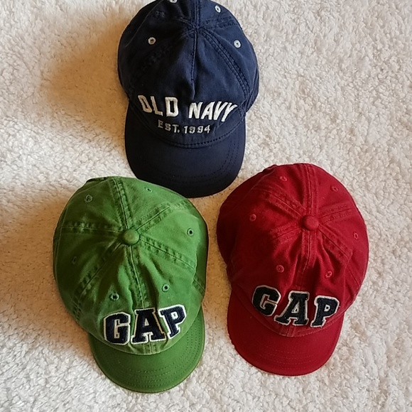 GAP Accessories Bundle Of Boys Baseball Caps For Toddler Size Sm