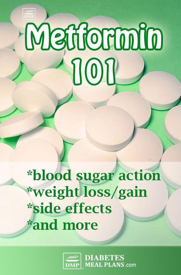 Metformin Blood sugar levels, weight, side effects