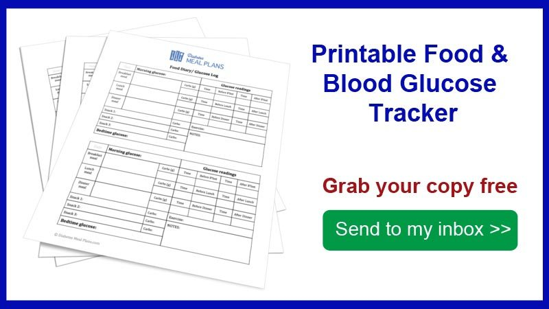 Food and Blood Glucose Tracker Printable - glucose log sheets printable