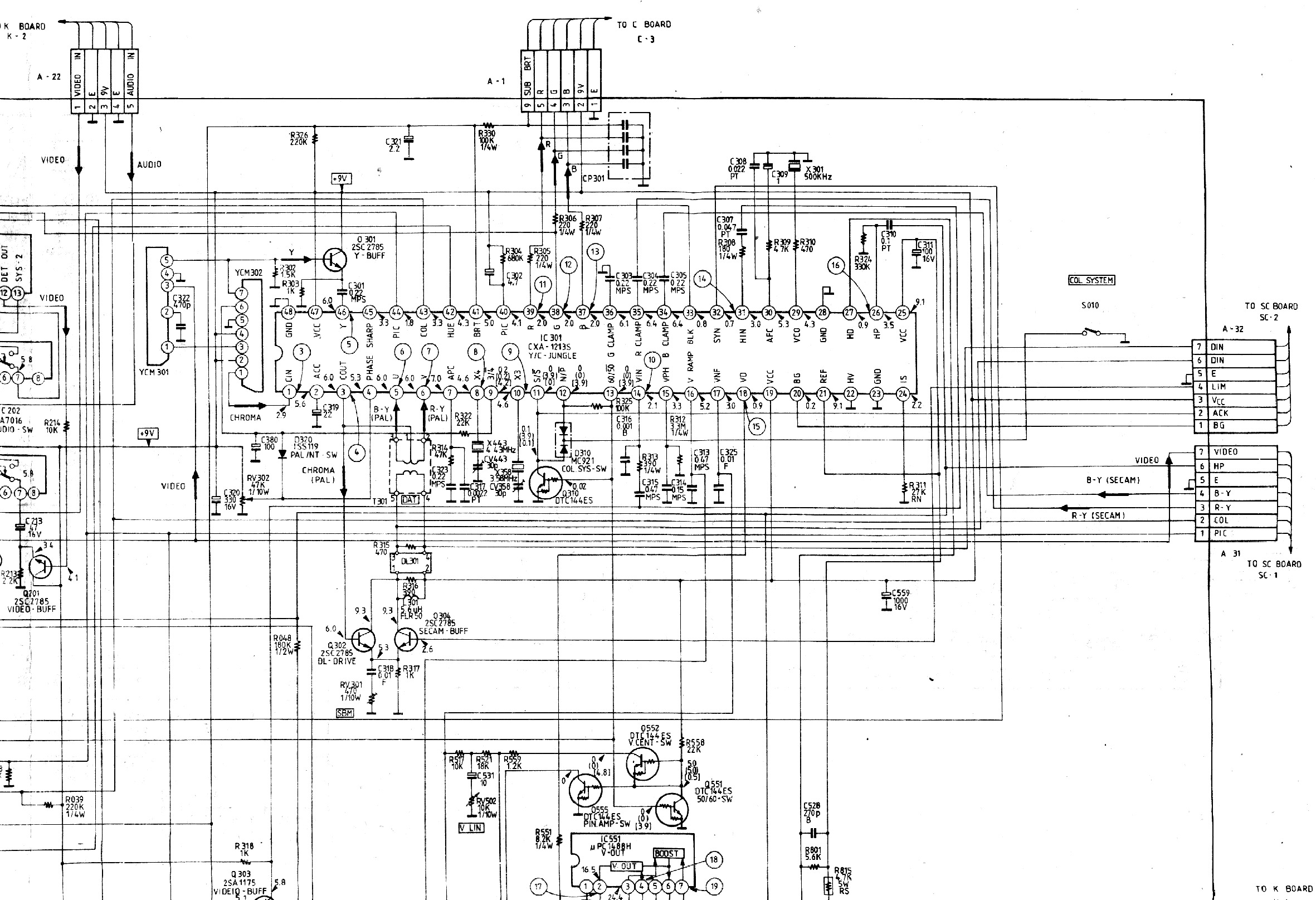 sony kv 29fs120 diagram