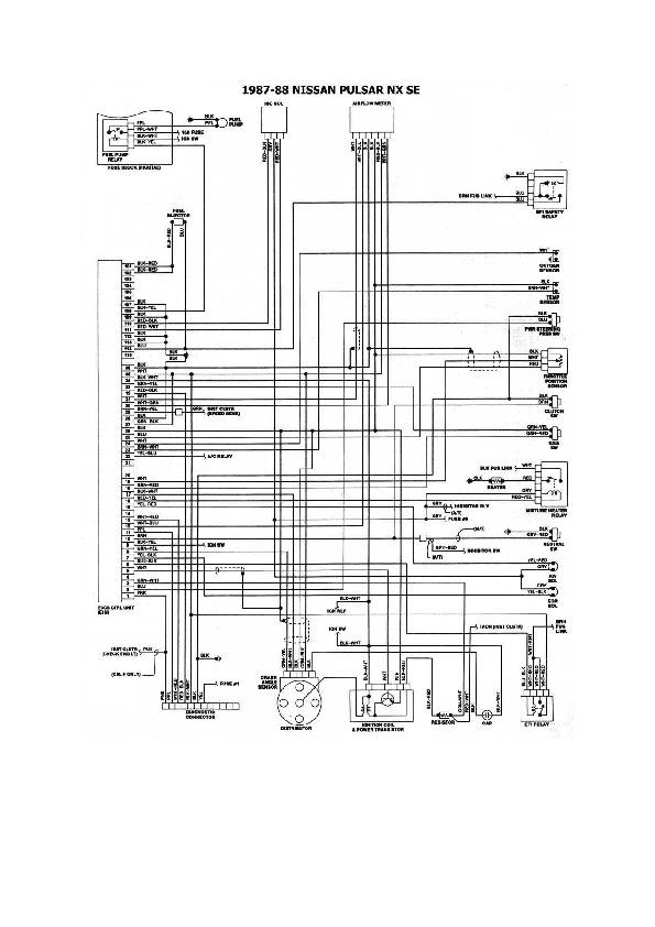 nissan sentra diagrama de cableado pdf