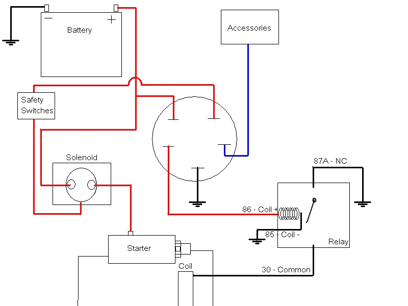 6 Prong Lawn Mower Starter Solenoid Wiring Diagram