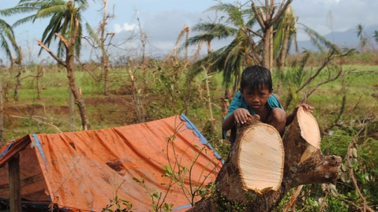 Typhoon Haiyan, which hit the Philippines and other parts of Southeast Asia in 2013 left around 600,000 people homeless (image: EU/ECHO, Arlynn Aquino)