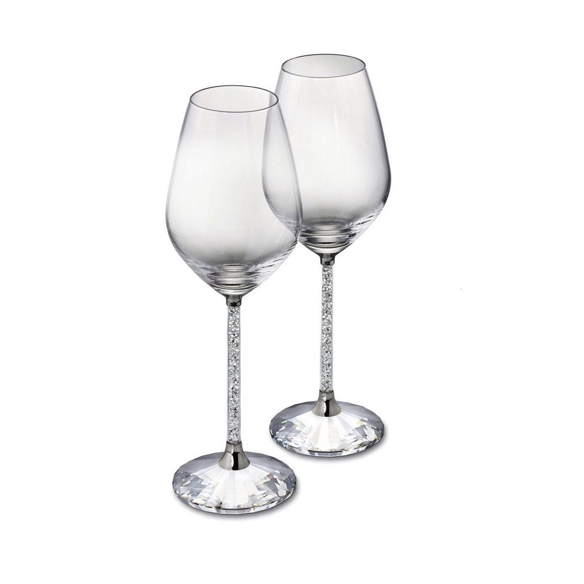 Crystal Stemware Wine Glasses Swarovski Crystal Wine Glasses And Decanter
