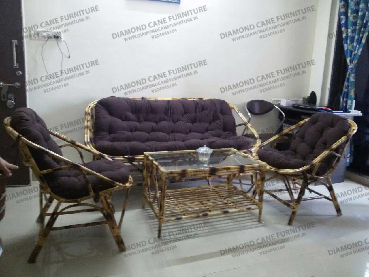 Sofa Set Furniture Diwan Aanda Cane Sofa And Table Set Diamond Cane Furniture