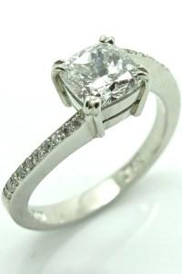 1ct Cushion Cut Diamond Engagement Ring in Platinum