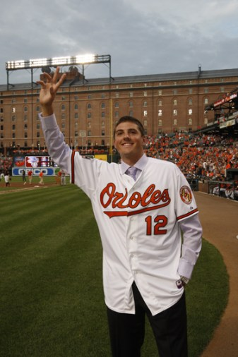Gausman Waves Camden Yards tall