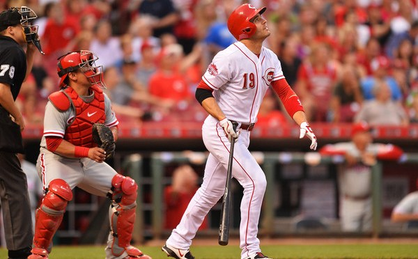 Joey Votto launches three home runs against Phillies in Cincinnati