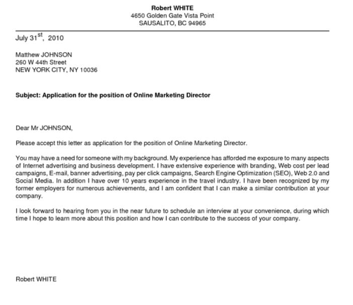 Letter Of Interest Job Opening Example | Sample Customer Service