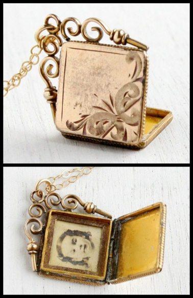 Vintage Gold Lockets 19