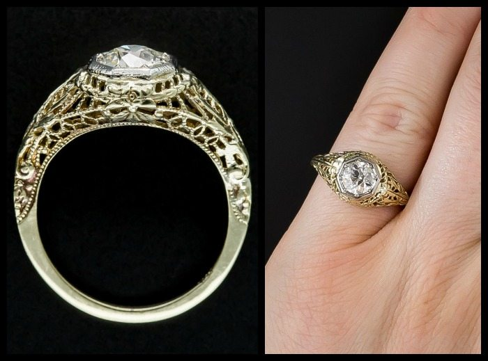 Gold Filigree Engagement Rings Diamonds In The Library