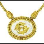 Golden Ilias Lalaounis chimera necklace.