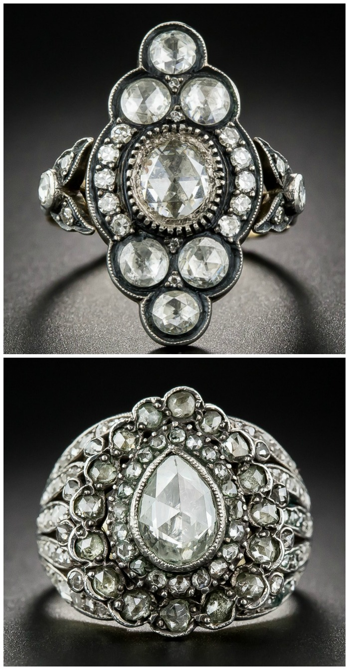 two-glorious-rose-cut-diamond-rings-from-lang-antqiues