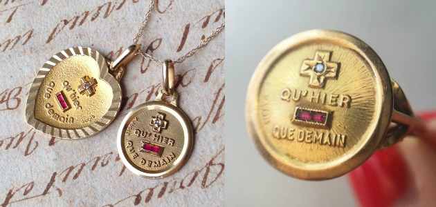A love poem you can wear: the Augis medaille d'amour.