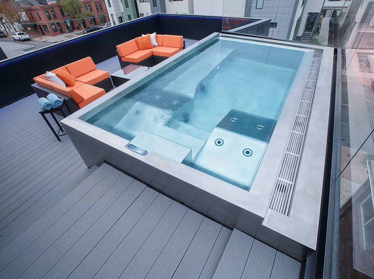Jacuzzi Pool Dimensions Rooftop Pools Spas Pool Construction Diamond Spas