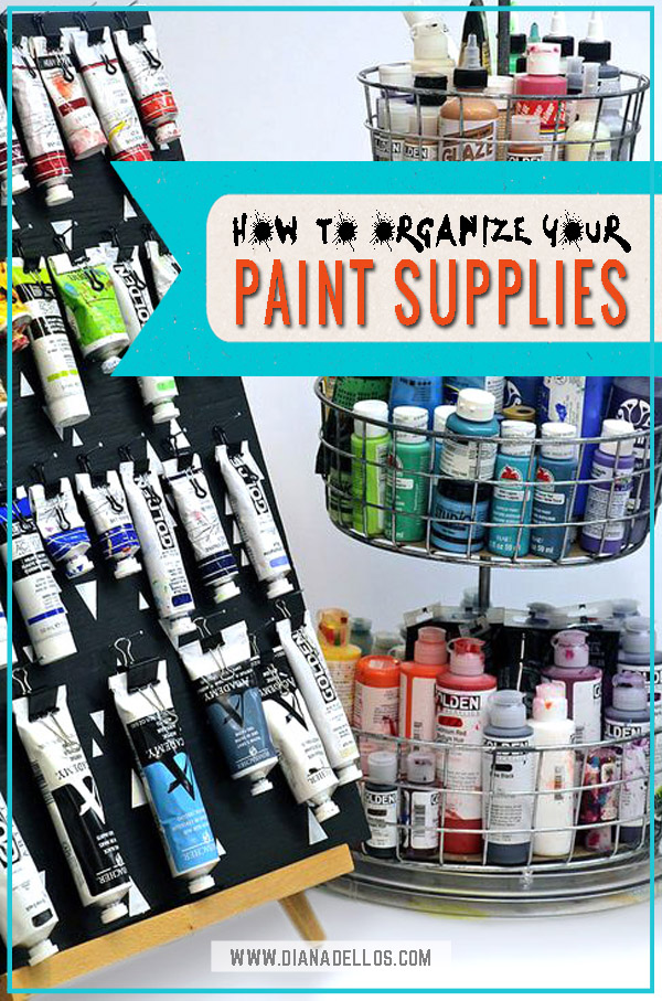 Store  Organize Art Supplies 6 Ways to Store Paint Tubes and Bottles