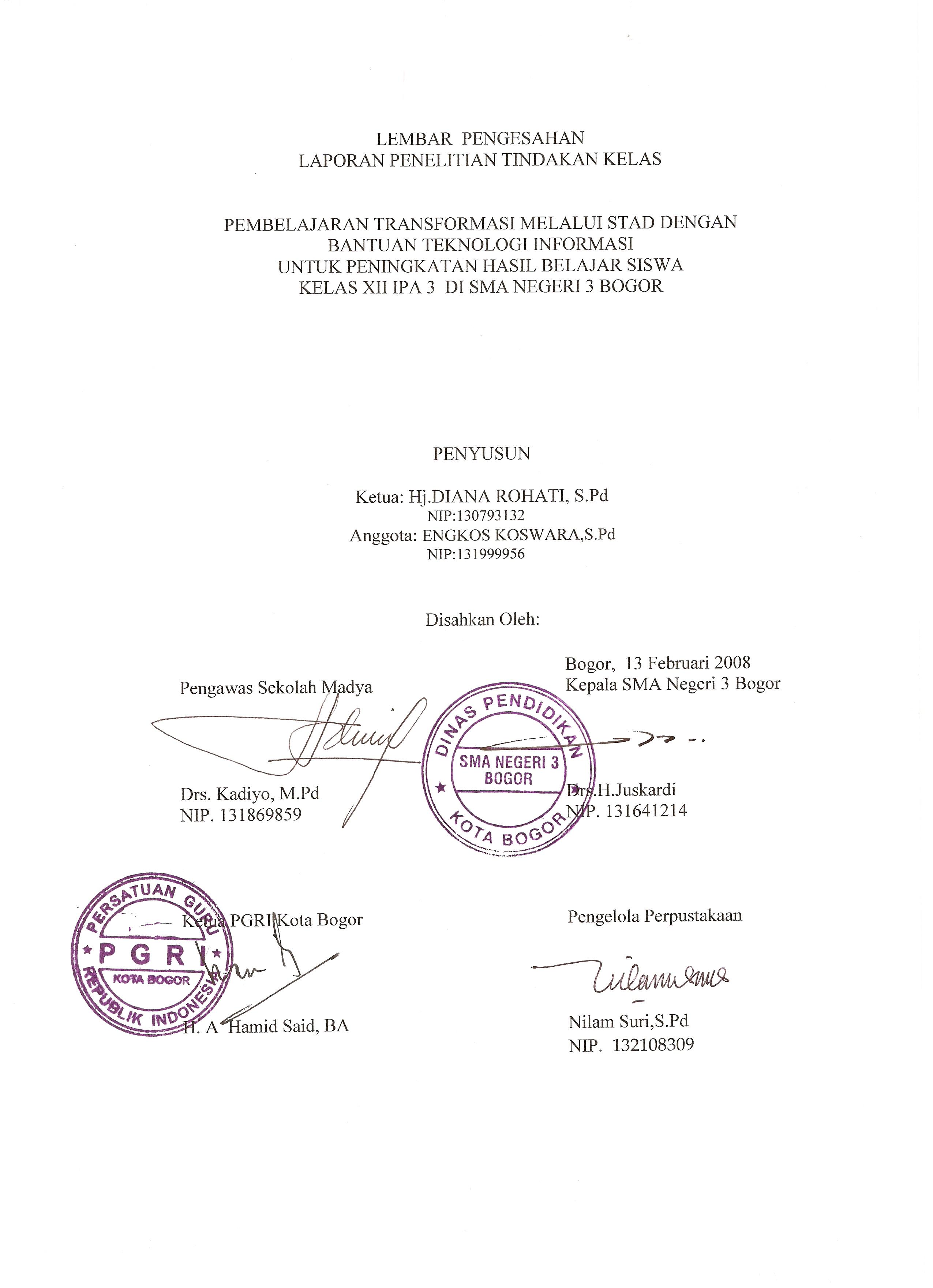 Makalah Contoh Laporan Pkl Akuntansi Contoh Judul Karya Tulis Ilmiah Dalam Bentuk Makalah Jpeg Lembar Pengesahan Laporan Ptk 187; Lembar Pengesahan Laporan Ptk
