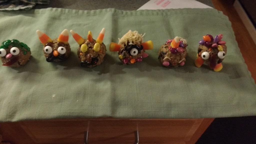 A hideous lineup of monster balls