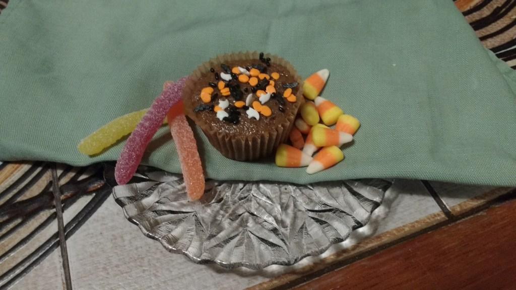 Pumpkin muffin for Halloween