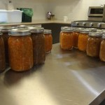 Relish and chutney processed and shelf stable for a year