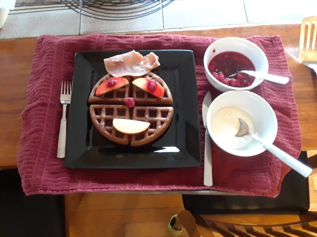 Chocolate Waffle Birthday Breakfast