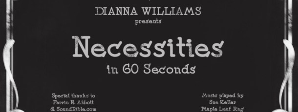 Necessities – The video project