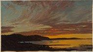 """Sunset, Bar Harbor,"" by Frederic Church (1854)"