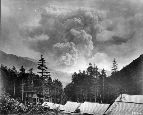During thunderstorms on a summer day in August 1907, lightning struck Owl's Head, and ignited a forest fire that burned for almost three weeks.  Heaps of slash leftover from lumbering contributed to the quick and easy spread of the fire, which burned through the entire area surrounding Owl's Head.