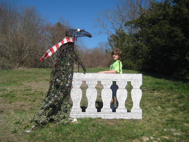 The Edward Gorey House in Yarmouth is full of whimsical sculptures, art work and odd things, and includes a scavenger hunt for kids.