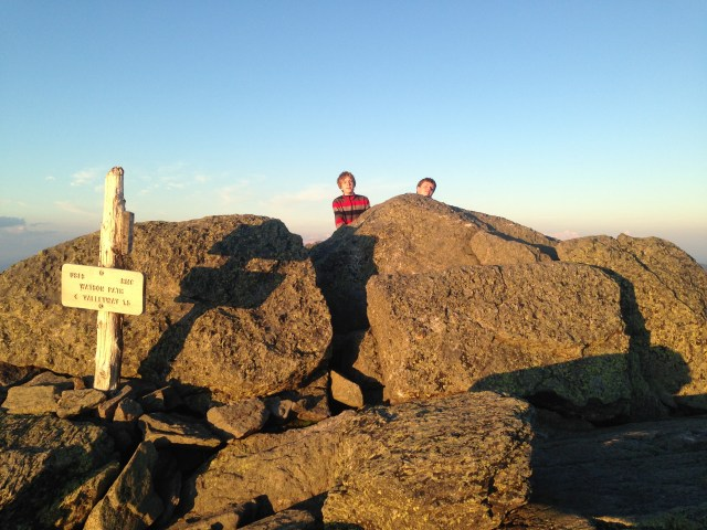 Reaching the summit of Mount Madison after dinner, with plenty of time to get back to the hut before dark.