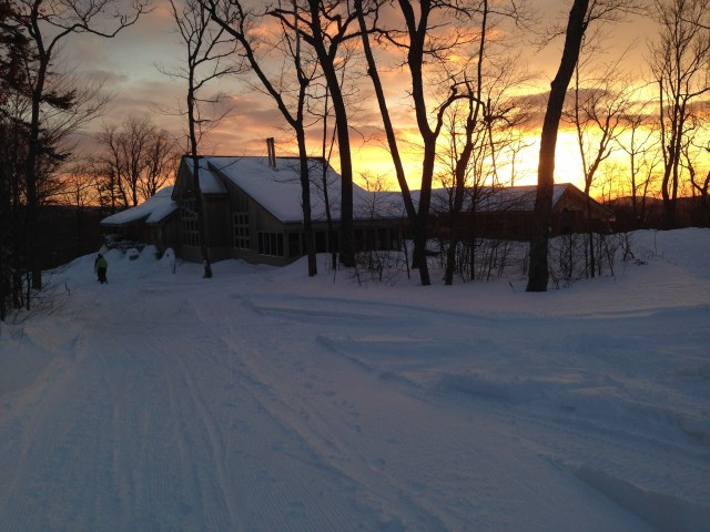 Sunrise at Stratton Brook Hut.