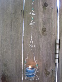 Whimsical Whirled Wire Candle Holders | dianne faw