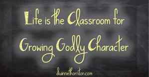 Life Is The Classroom For Growing Godly Character