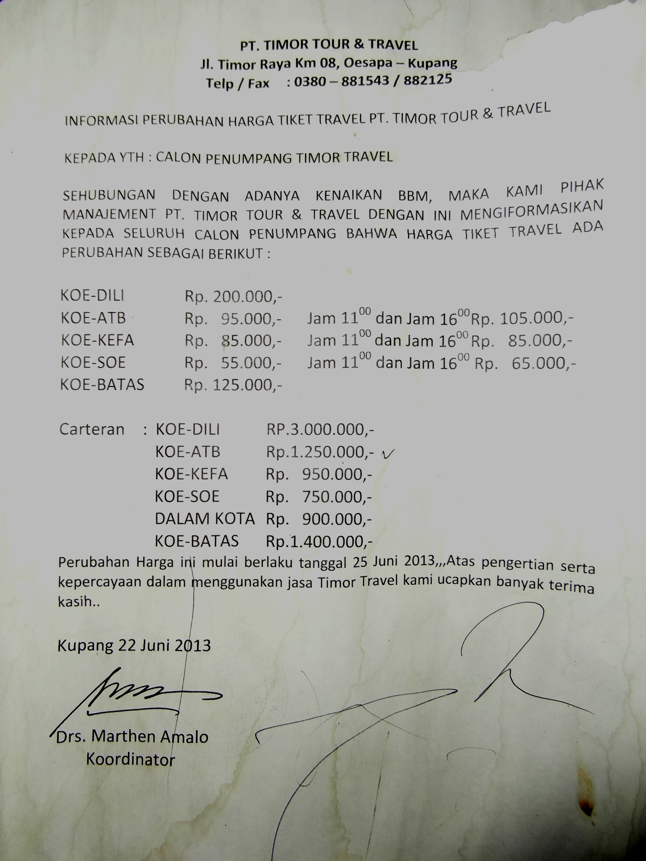 Tarif Travel Backpacking Kupang Dili Travelling Makes Me Alive