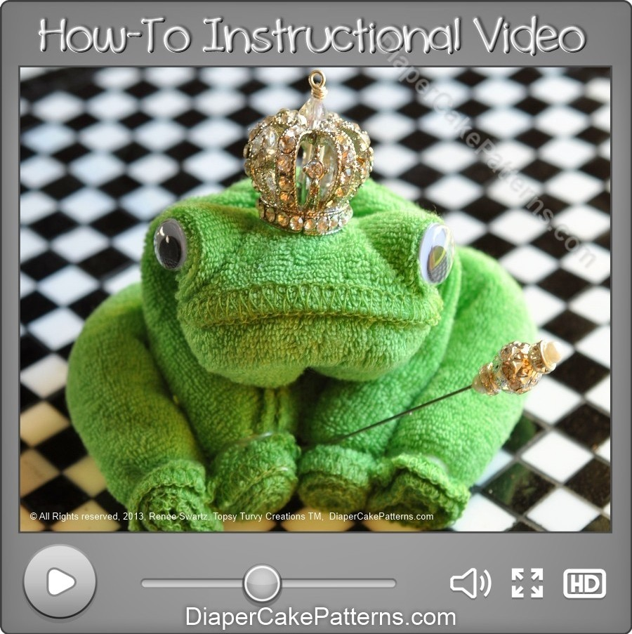 Baby Kado How To Make A Washcloth Frog Video Instructions | Diaper