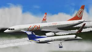 Accidente de aviación en el aire