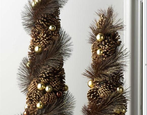 Decorar con pi as ideas para navidad diario artesanal for Cosas artesanales para navidad